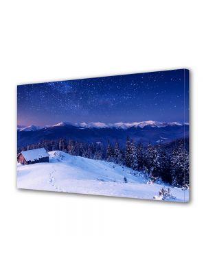 Tablou Canvas Iarna Noapte la munte