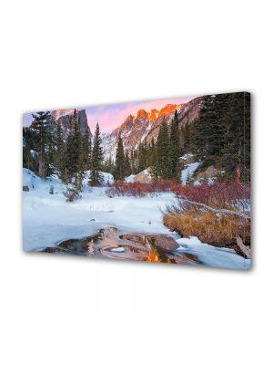 Tablou Canvas Iarna Toamna tarziu la munte