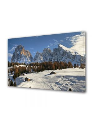 Tablou Canvas Iarna La munte iarna