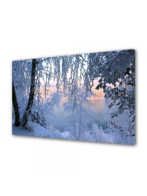 Tablou Canvas Iarna Fereastra spre orizont