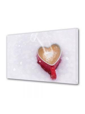 Tablou Canvas Iarna Cafea cu dragoste
