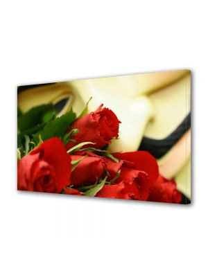 Tablou Canvas Luminos in intuneric VarioView LED Flori Buchet trandafiri