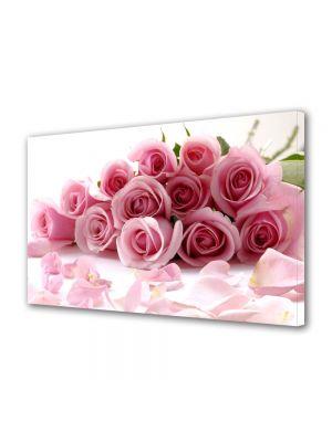 Tablou Canvas Flori Buchet de trandafiri rozalii