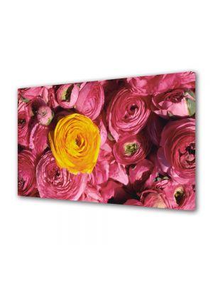 Tablou VarioView MoonLight Fosforescent Luminos in intuneric Flori Floare galbena si flori violet
