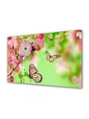 Tablou Canvas Flori Fluturi