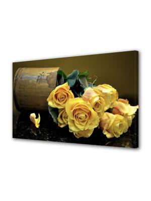 Tablou Canvas Flori Buchet de trandafiri galbeni