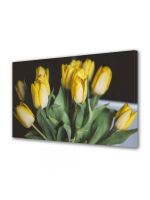 Tablou Canvas Flori Buchet lalele galbene