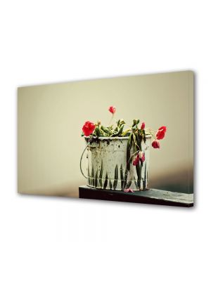 Tablou Canvas Luminos in intuneric VarioView LED Flori Culori naturale