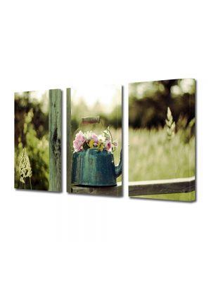 Set Tablouri Multicanvas 3 Piese Flori Flori in ibric