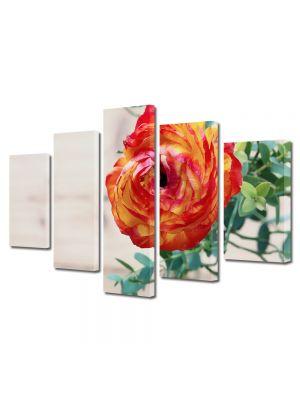 Set Tablouri Multicanvas 5 Piese Flori Flori persane