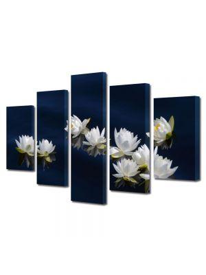 Set Tablouri Multicanvas 5 Piese Flori Flori pe apa
