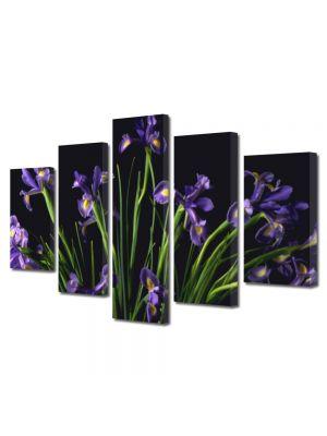 Set Tablouri Multicanvas 5 Piese Flori Buchet