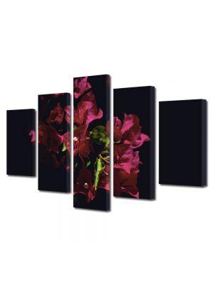 Set Tablouri Multicanvas 5 Piese Flori Floricica