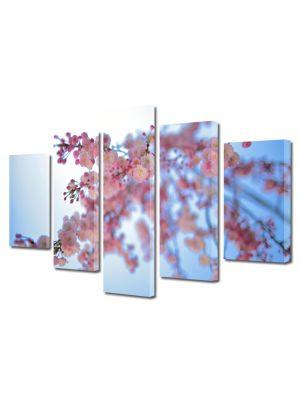 Set Tablouri Multicanvas 5 Piese Flori Infloriti