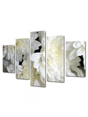 Set Tablouri Multicanvas 5 Piese Flori Inflorit