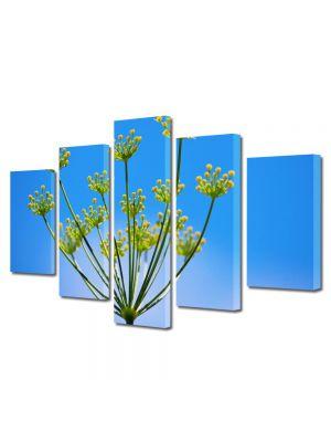 Set Tablouri Multicanvas 5 Piese Flori Chimen dulce