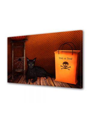 Tablou Canvas Halloween Halloween pisica neagra