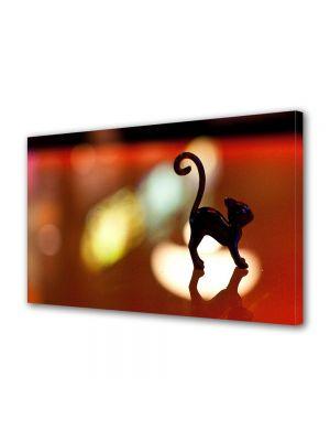 Tablou Canvas Halloween Miniatura pisica neagra