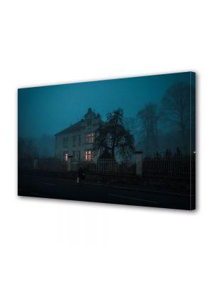 Tablou Canvas Halloween Casa luminata noaptea