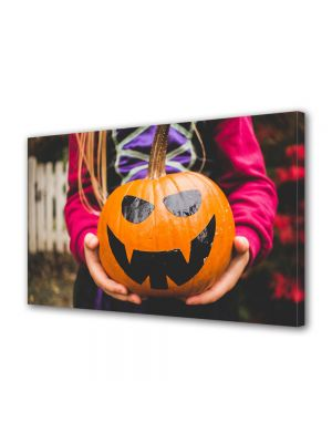 Tablou Canvas Halloween Dovleac pictat Halloween