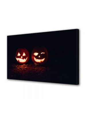 Tablou Canvas Halloween Halloween dovleci luminati
