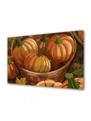 Tablou Canvas Halloween Cos cu dovleci portocalii