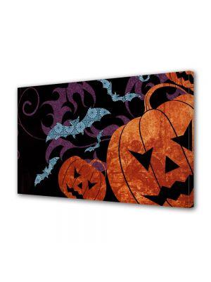 Tablou Canvas Halloween Forme dovleac si liliac