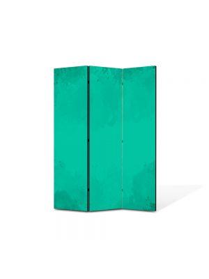 Paravan de Camera ArtDeco din 3 Panouri Abstract Decorativ Turcoaz 105 x 150 cm