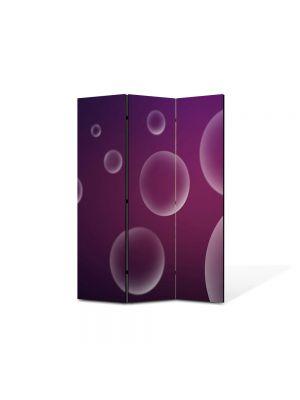 Paravan de Camera ArtDeco din 3 Panouri Abstract Decorativ Bule 105 x 150 cm