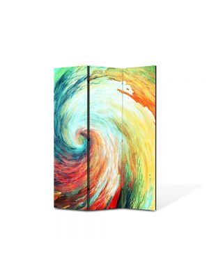 Paravan de Camera ArtDeco din 3 Panouri Abstract Decorativ Spirala 135 x 180 cm