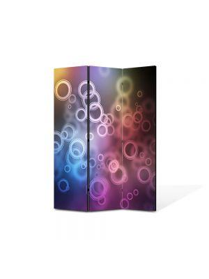 Paravan de Camera ArtDeco din 3 Panouri Abstract Decorativ Bule de aer 105 x 150 cm
