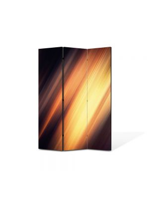 Paravan de Camera ArtDeco din 3 Panouri Abstract Decorativ Fante de lumina 105 x 150 cm