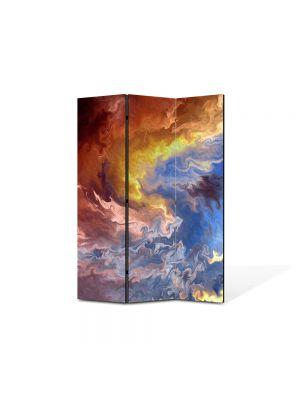 Paravan de Camera ArtDeco din 3 Panouri Abstract Decorativ Furtuna 105 x 150 cm
