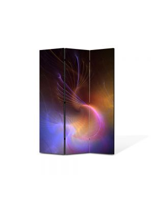 Paravan de Camera ArtDeco din 3 Panouri Abstract Decorativ Galaxie 105 x 150 cm