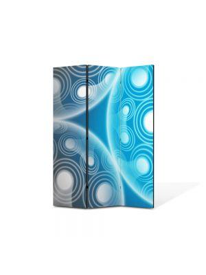 Paravan de Camera ArtDeco din 3 Panouri Abstract Decorativ Molecule 105 x 150 cm