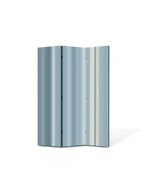 Paravan de Camera ArtDeco din 3 Panouri Abstract Decorativ Gri 105 x 150 cm