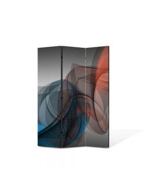 Paravan de Camera ArtDeco din 3 Panouri Abstract Decorativ Forme fine 105 x 150 cm