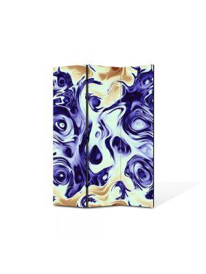 Paravan de Camera ArtDeco din 3 Panouri Abstract Decorativ Pastel 105 x 150 cm