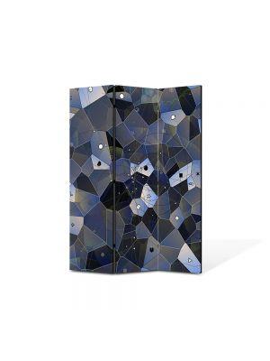 Paravan de Camera ArtDeco din 3 Panouri Abstract Decorativ Ochi 105 x 150 cm