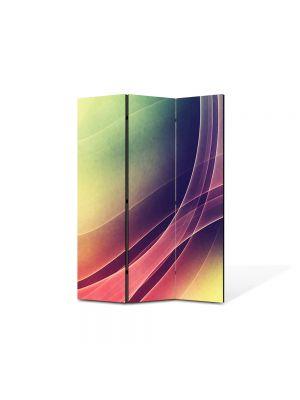Paravan de Camera ArtDeco din 3 Panouri Abstract Decorativ Raze intrepatrunse 105 x 150 cm