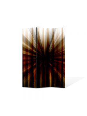 Paravan de Camera ArtDeco din 3 Panouri Abstract Decorativ Gaura neagra 135 x 180 cm