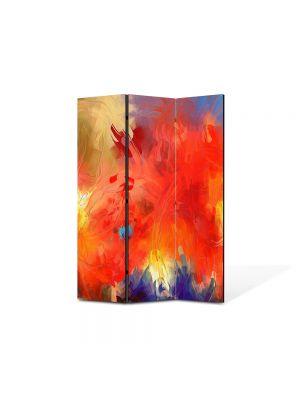Paravan de Camera ArtDeco din 3 Panouri Abstract Decorativ Univers 105 x 150 cm