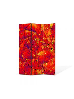 Paravan de Camera ArtDeco din 3 Panouri Abstract Decorativ Aproape de soare 105 x 150 cm