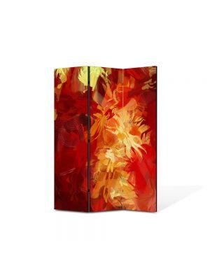 Paravan de Camera ArtDeco din 3 Panouri Abstract Decorativ Culori scurse 105 x 150 cm