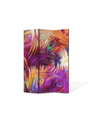Paravan de Camera ArtDeco din 3 Panouri Abstract Decorativ Vopseluri 105 x 150 cm