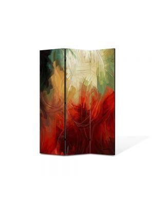 Paravan de Camera ArtDeco din 3 Panouri Abstract Decorativ Pictura abstracta 105 x 150 cm