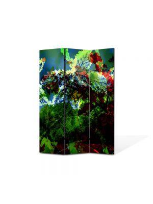 Paravan de Camera ArtDeco din 3 Panouri Abstract Decorativ Scenariu de culori 105 x 150 cm