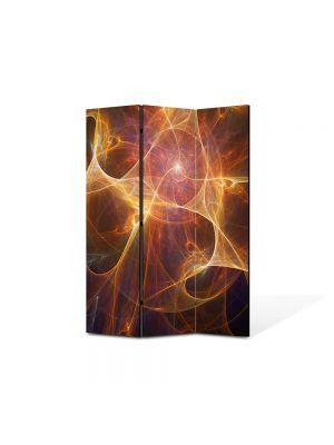 Paravan de Camera ArtDeco din 3 Panouri Abstract Decorativ Univers paralel 105 x 150 cm