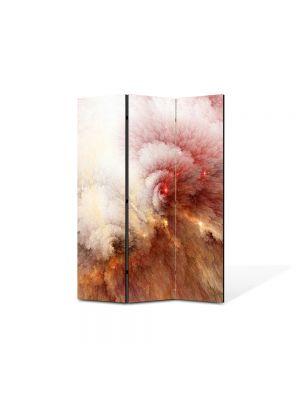 Paravan de Camera ArtDeco din 3 Panouri Abstract Decorativ Explozie 105 x 150 cm