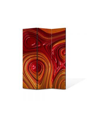 Paravan de Camera ArtDeco din 3 Panouri Abstract Decorativ Unduiri de lumina 105 x 150 cm